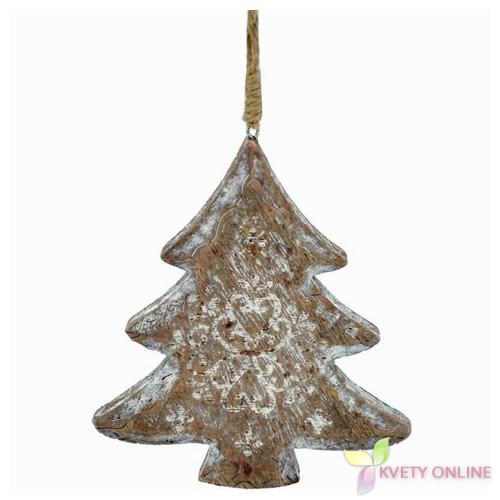 Drevený stromček na zavesenie - prírodný b242f65b95d