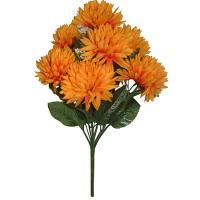 Umelá kytica z oranžových chryzantém, 34cm_1