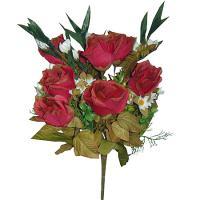 Umelá jesenná kytica z ruží a gladiol, 42cm_1