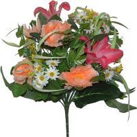 Umelá kytica z ruží a ľalií, 42cm_1