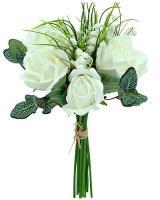 Umelá kytica z ruží a konvaliniek, 30cm_1