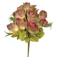 Umelá jesenná kytica z ruží, 36cm _1