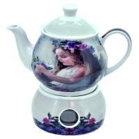 Keramický čajník s ohrievačom, 20cm_1