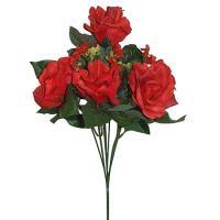 Umelá kytica z červených ruží, 39cm_1