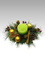 Vianočný svietnik s aromatickou sviečkou_1