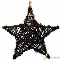 Vianočná hviezda na zavesenie - hnedá, 30cm_1