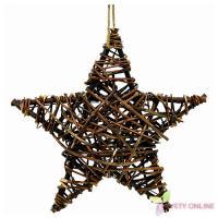 Vianočná hviezda na zavesenie - prírodná, 30cm_1