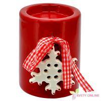 Vianočný svietnik s vločkou, 10cm_1