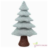 Dekoratívny stromček so štrasom - strieborný, 32cm_1