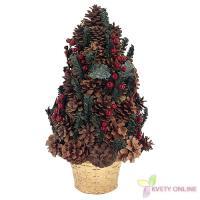 Zdobený vianočný stromček - červený, 40cm_1