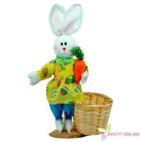 Dekoratívny zajac s košíkom, 38cm_1