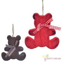 Vianočná dekorácia - drevený medvedík, 9,5cm_1
