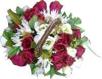 Dekorácia - veľký kvetinový kôš_1