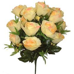 Umelá veľká kytica z ruží, 43cm_1