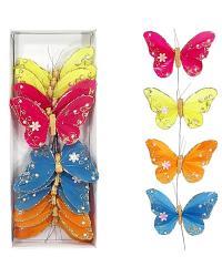 Motýle na zapichovanie, 10cm/12ks_1
