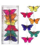 Motýle na zapichovanie, 9cm/12ks_1