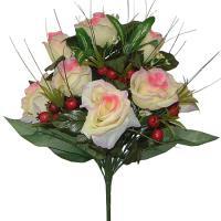 Umelá kytica z ruží, 40cm_1