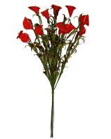 Červená kytica minikálií, 44cm / 4ks_1
