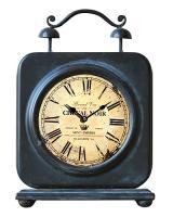 Kovové retro hodiny na stôl_1