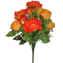 Umelá kytica z ruží a vlčích makov, 36cm_1